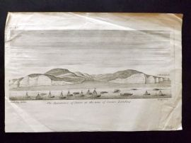 Stukeley 1776 Print. The appearance of Dover at the time of Caesars Landing Kent
